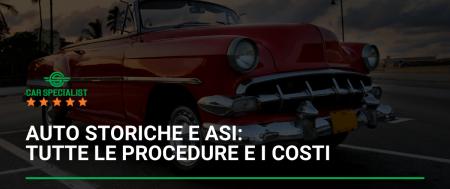 Auto storiche e ASI: tutte le procedure e i costi